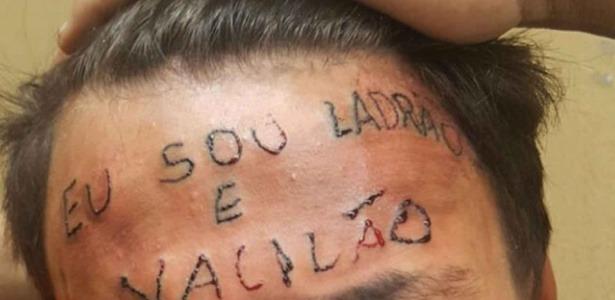 """adolescente tem testa tatuada apos ser acusado de roubo em sao bernardo do campo na grande sao paulo 1495456465840 615x300 - Lembre-se do jovem com """"ladrão e vacilão"""" gravado na testa? Veja como ele esta agora"""