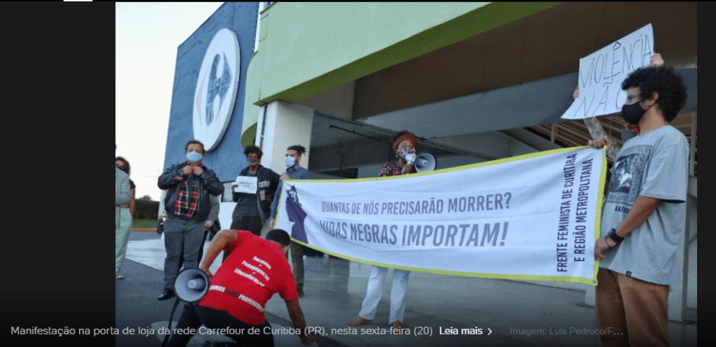 54654 1024x497 - Lojas do Carrefour são invadidas em todo Brasil em protesto pela morte de João Alberto, SP teve unidade incendiada; veja o vídeo
