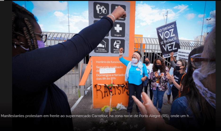 6345 - Lojas do Carrefour são invadidas em todo Brasil em protesto pela morte de João Alberto, SP teve unidade incendiada; veja o vídeo