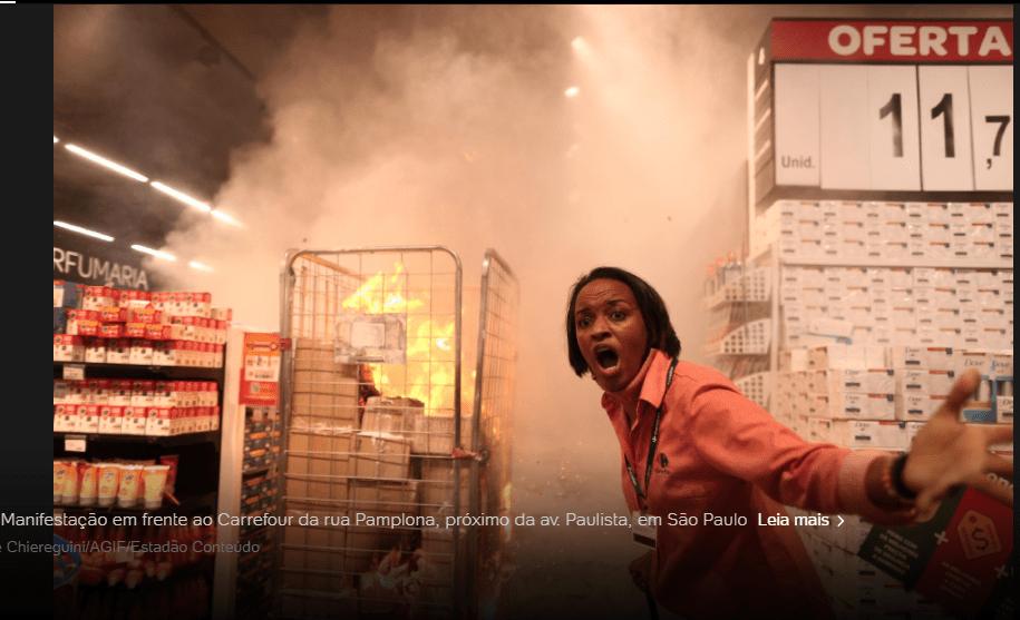 9665 - Lojas do Carrefour são invadidas em todo Brasil em protesto pela morte de João Alberto, SP teve unidade incendiada; veja o vídeo