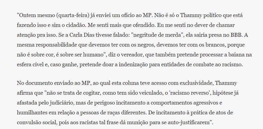 Captura de Tela 897 - Thammy Miranda entrega denúncia contra Lumena ao MP e detalhes chocam; Veja