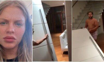 capaportaluiza 400x240 - Vídeo; Amigos derrubam porta da mansão de Luísa Sonza e viraliza na web; Assista