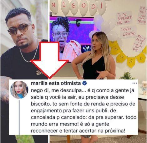 negodi recado - Nego Di culpa famosos de promover ódio contra ele, Marília Mendonça deixa recado