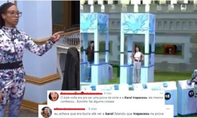 trapacakarolbbb21 400x240 - BBB21: Karol Conká admite que trapaceou na prova Bate e Volta e público se revolta; veja o vídeo