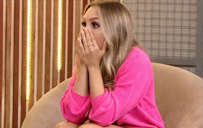 reacao carla diaz - BBB21: Reação de Carla Diaz ao descobrir que Karol Conká saiu com 99,17% de rejeição quebra internet; Vídeo