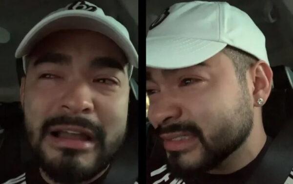 yudy chora2021 03 16t103058 e1617271909963 - Luto: Yudi Tamashiro fica desolado e chora morte do pai aos 56 anos, vítima de COVID-19