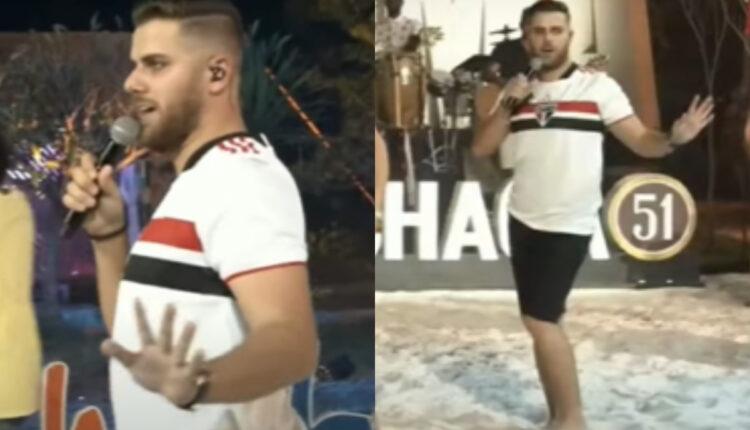 fotojet 189 750x430 - Zé Neto é acusado de homofobia após vestir camisa de time do São Paulo e imitar um gay