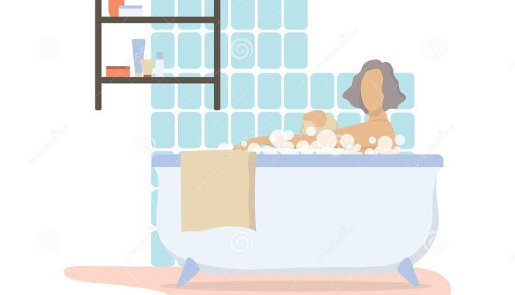 mulher tomando banho de manha no banheiro bonita personagem feminina velha idosa se lavando ideia beleza e higiene conceito 750x430 - Saiba o motivo porque muitas mulheres estão usando o secador em suas partes íntimas